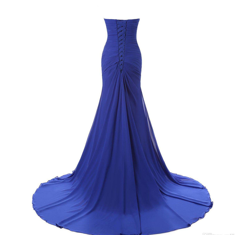 Lemai long mermaid chiffon corset prom dress crystals brooch evening