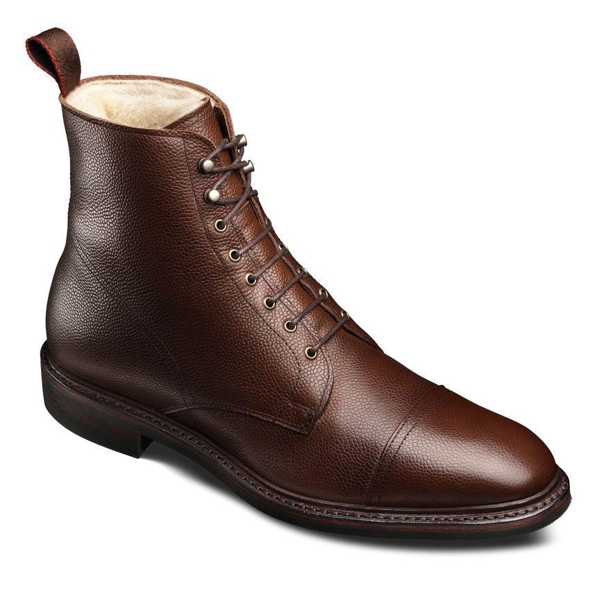 b5538441afe First Avenue - Shearling Brown Grain Dress Boots by Allen Edmonds ...