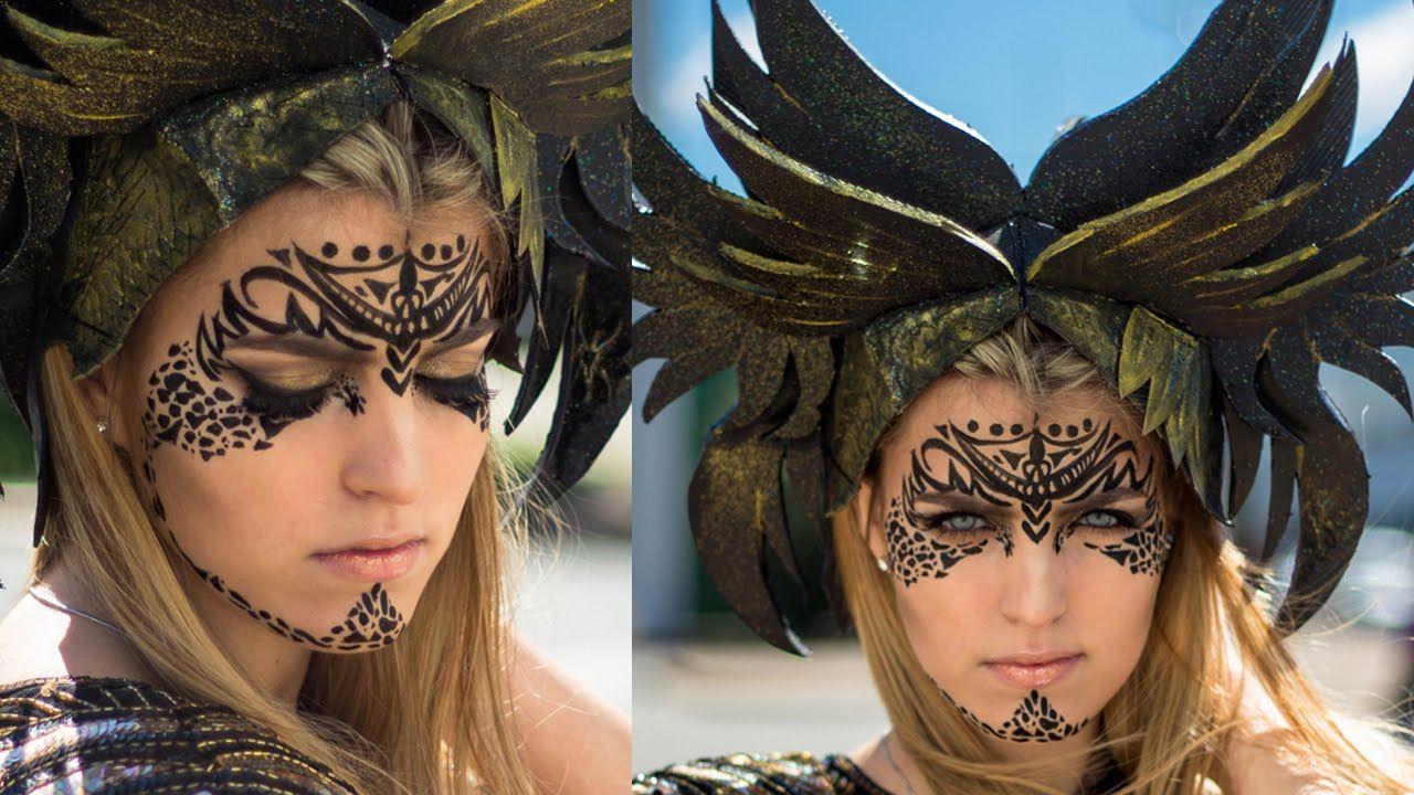 Tribal Makeup Tutorial Warrior Make Up Tribal Makeup Warrior Makeup Viking Makeup
