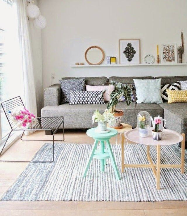 Sofa Cinza Almofadas Coloridas A Dupla Perfeita Com Imagens