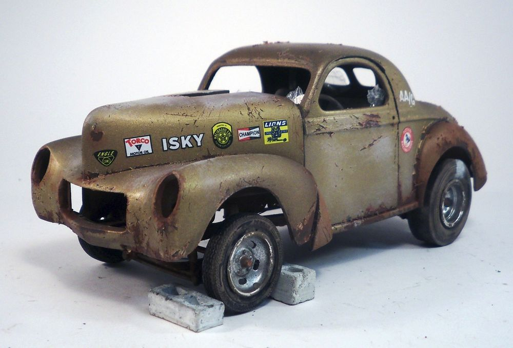 1940 Willys Coupe Gasser Pro Built Weathered Barn Find