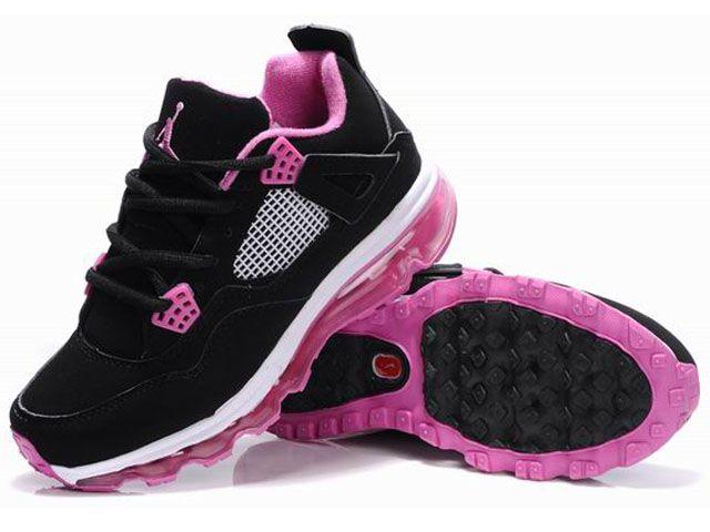 cheap black pink air jordans 4 iv mix max women sale  1baf328ab