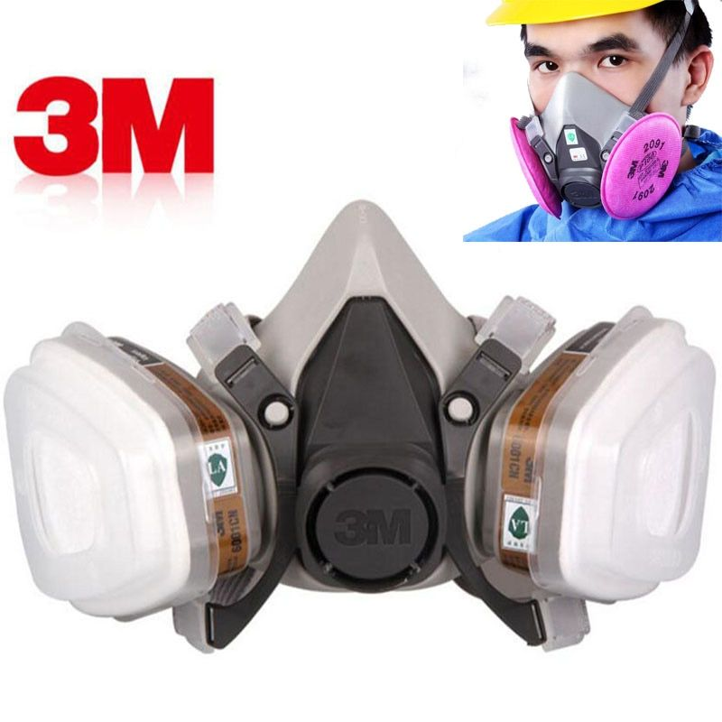 3m 6200 Gas Mask Paint Spraying Safety Work Half Face Respirator