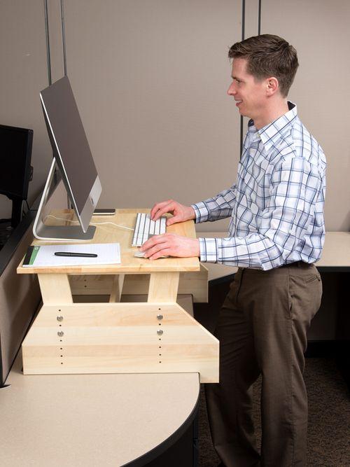 Wallsproutz Standz 1000 Adjustable Stand Up Desk Converter 30 X22 Standingdesk Diy Standing Desk Awesome Woodworking Ideas Woodworking Ideas Table