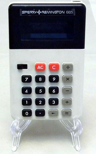 Vintage Sperry Remington Model 665 LED Handheld Electronic Calculator, Made in Japan, Circa the 1970s.