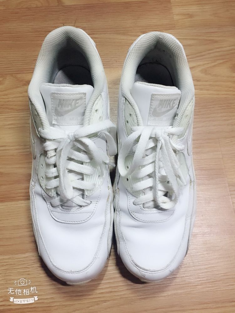 6845344f634 NIKE AIR MAX WHITE WHITE LEATHER SNEAKERS MEN S SIZE 9  fashion  clothing   shoes  accessories  mensshoes  athleticshoes (ebay link)