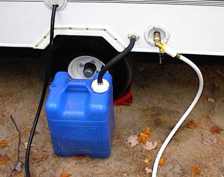 how to clean trailer hoding tanks