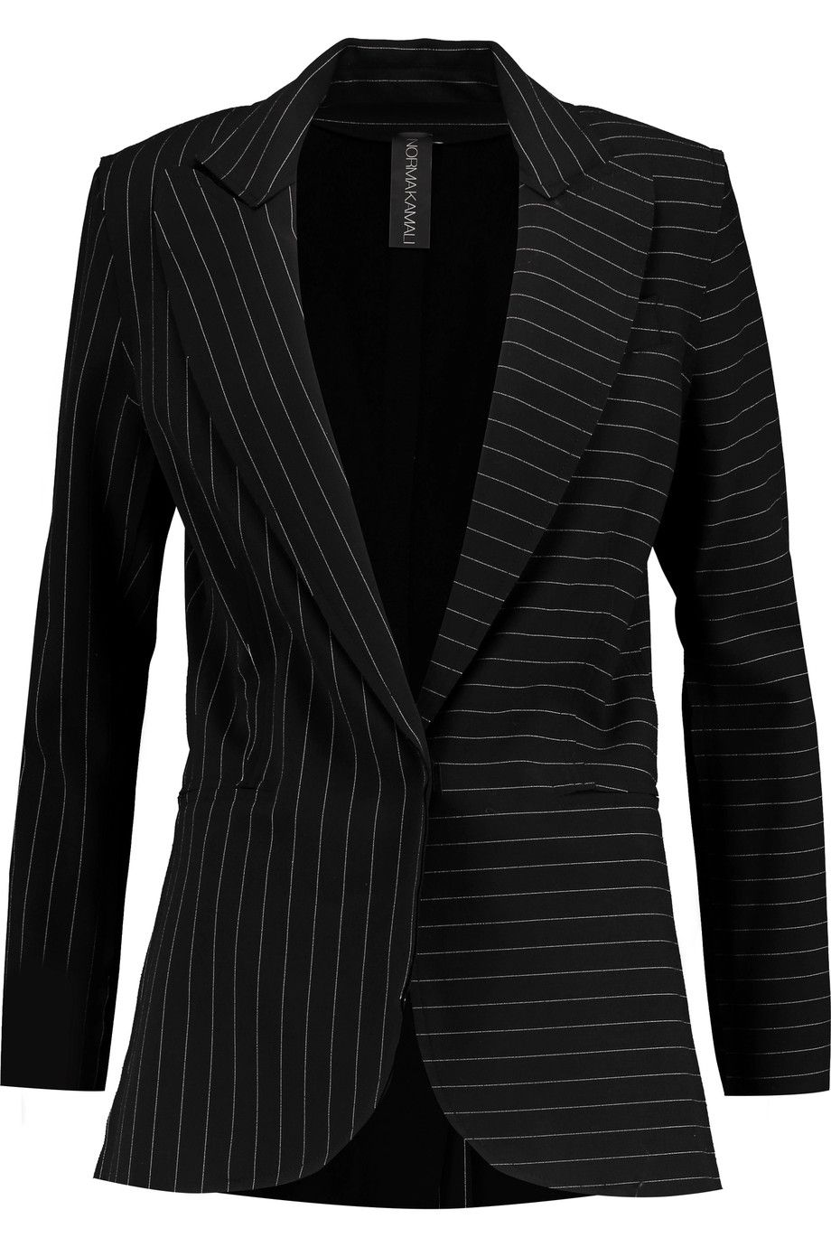 Shop on-sale Norma Kamali Pinstriped crepe blazer. Browse other discount  designer Jackets & more on The Most Fashionable Fashion Outlet, THE OUTNET.