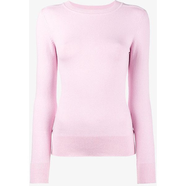 Joostricot Pink Ribbed Round Neck Jumper (8,425 MXN) ❤ liked on ...