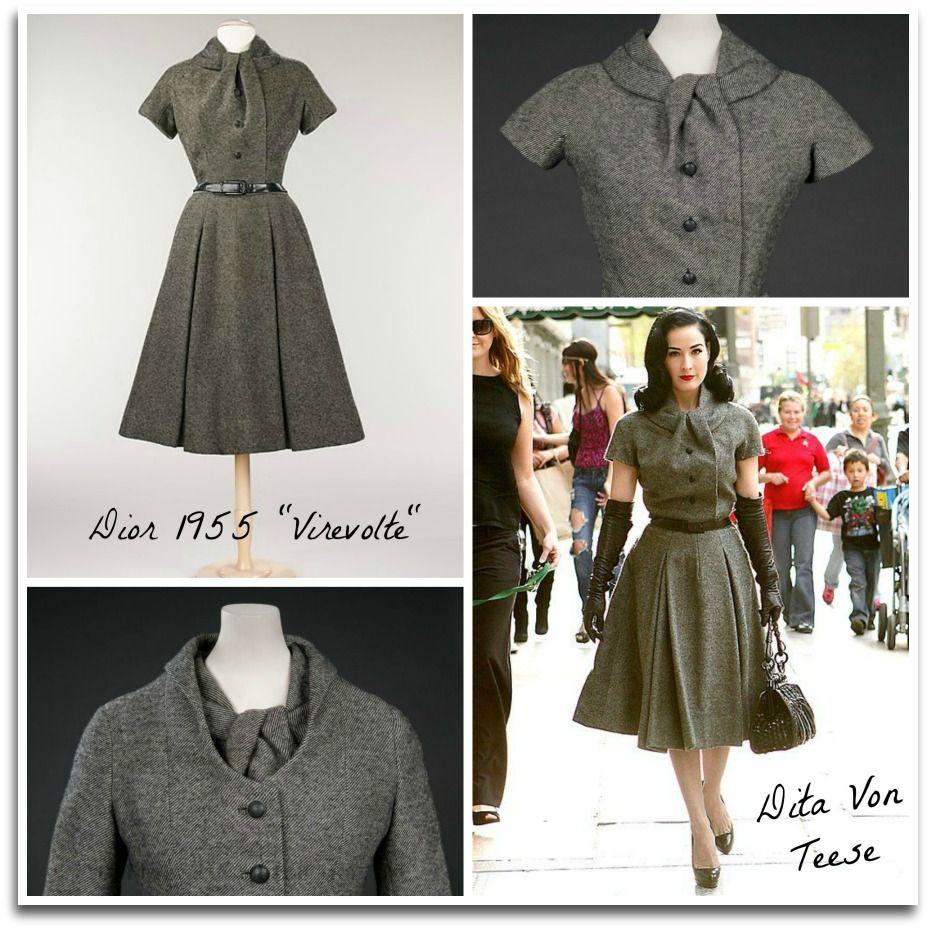La robe vintage de Dior revisitée par Von 50′ | Vêtements et ...