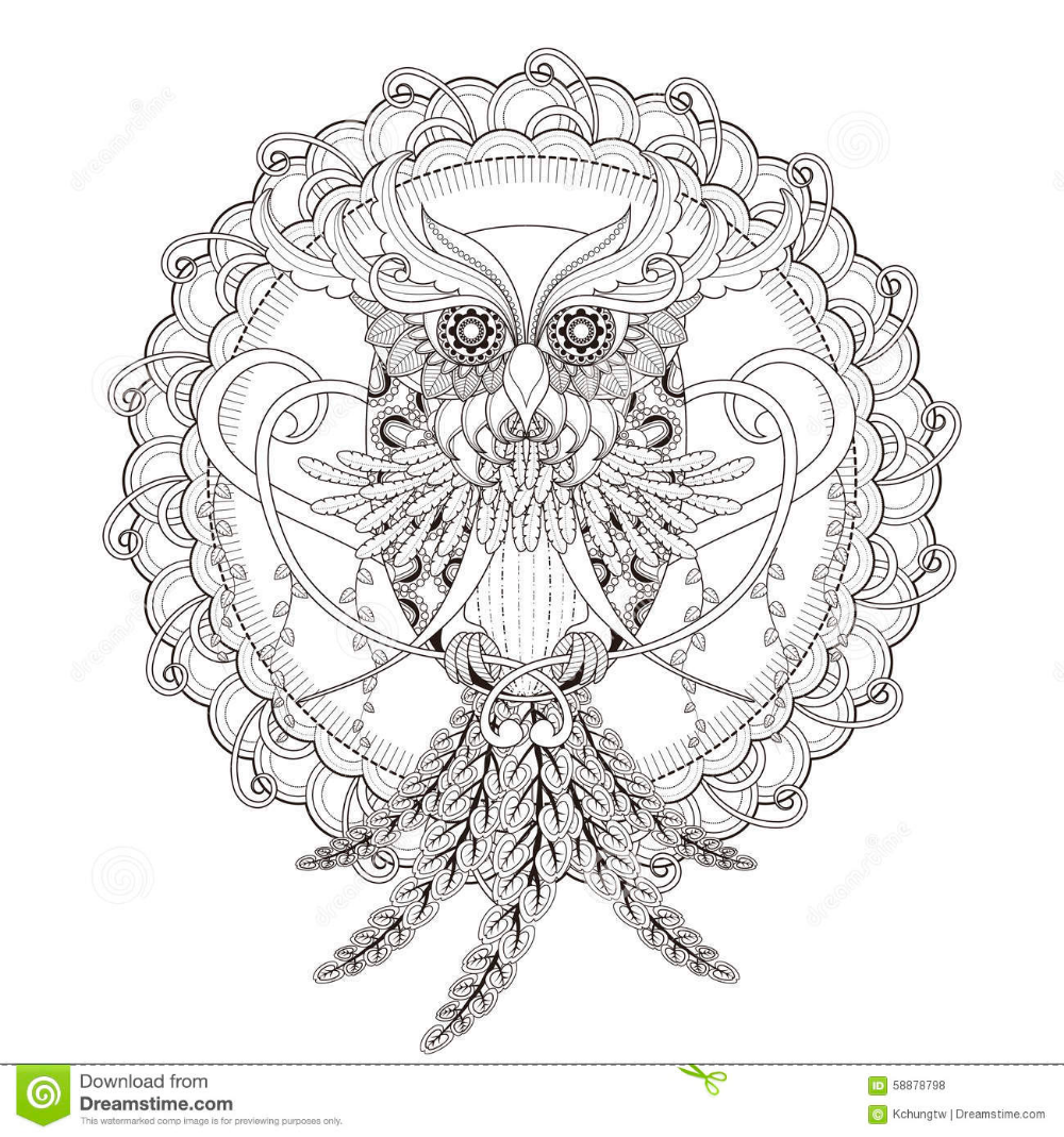 icolor owls  owl coloring pages mandala coloring free