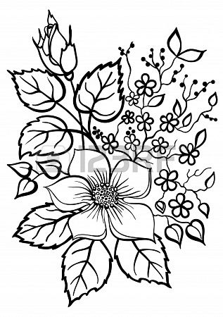 Stock Vector With Images Flower Drawing Flower Coloring Pages