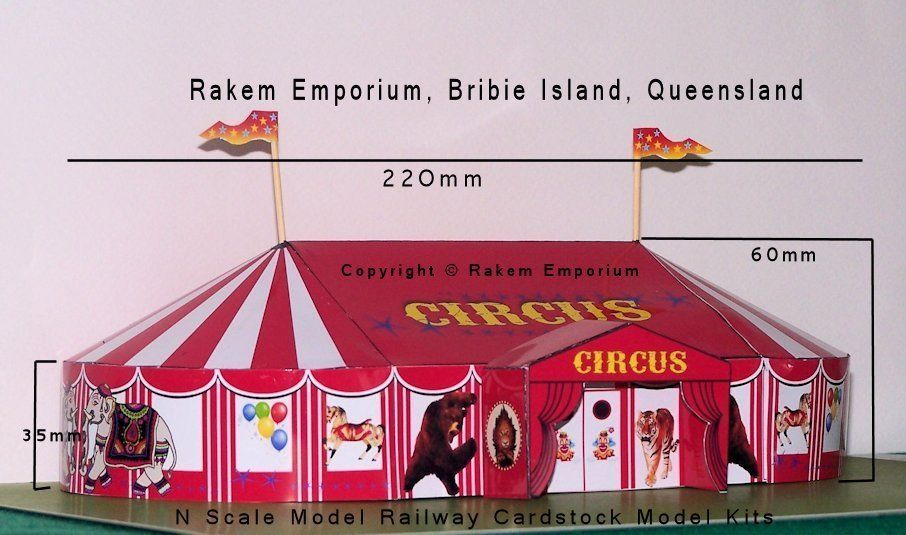 detailed look 99ba8 6f25b Details about N Scale Circus Big Top Tent Model Railway ...