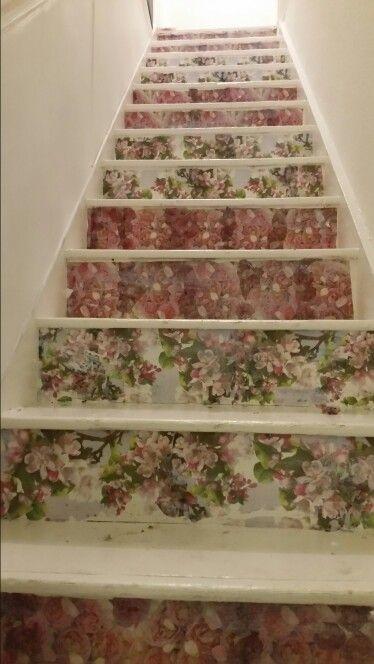 Decoupage Stairs.... Sainsburys serviettes!!!! | Ideas for Laurens ...