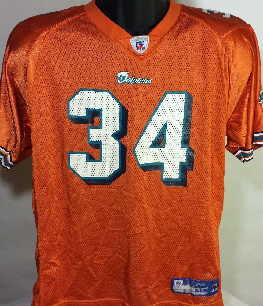 c849fbcb Throwback Miami Dolphins Ricky Williams Youth Size XL Reebok ...
