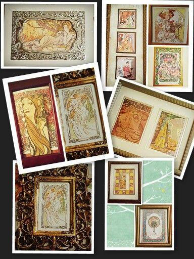 Art nouveau print collection