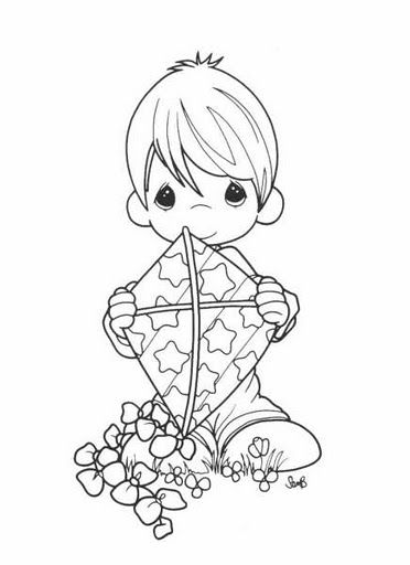 Coloring Pages precious moments Imágenes para colorear - fresh free coloring pages of a kite
