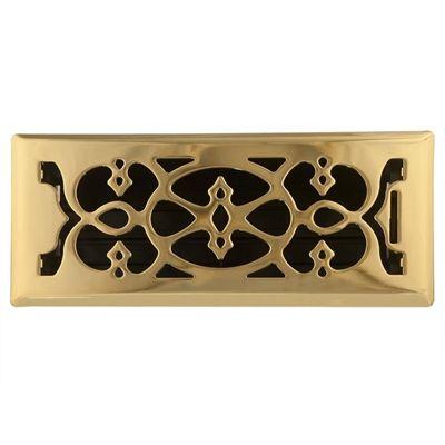 Accord Select 4 In X 10 In Victorian Floor Register Polished Brass Floor Registers Victorian Design