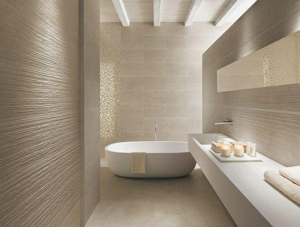 Texture Feature Tile Bathroom Ideas Pinterest Contemporary Bagno Beige Bagno Interno Bagni Lussuosi