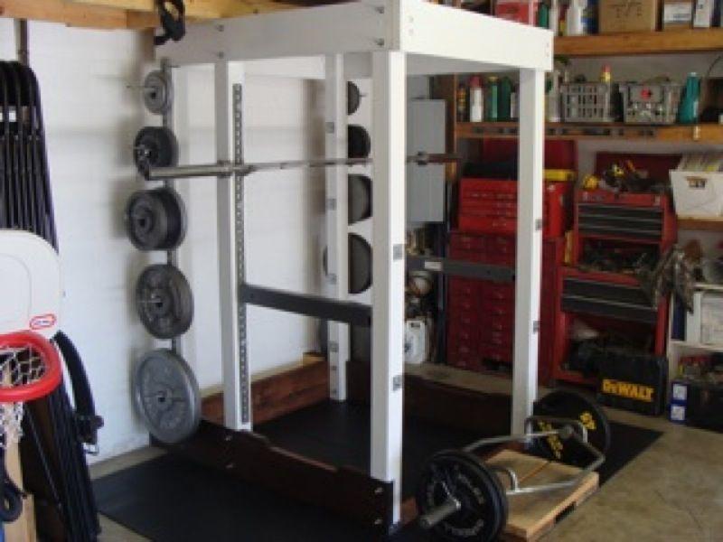 Power Rack Combo Wood Unistrut Squat Rack Squats Workout Rooms
