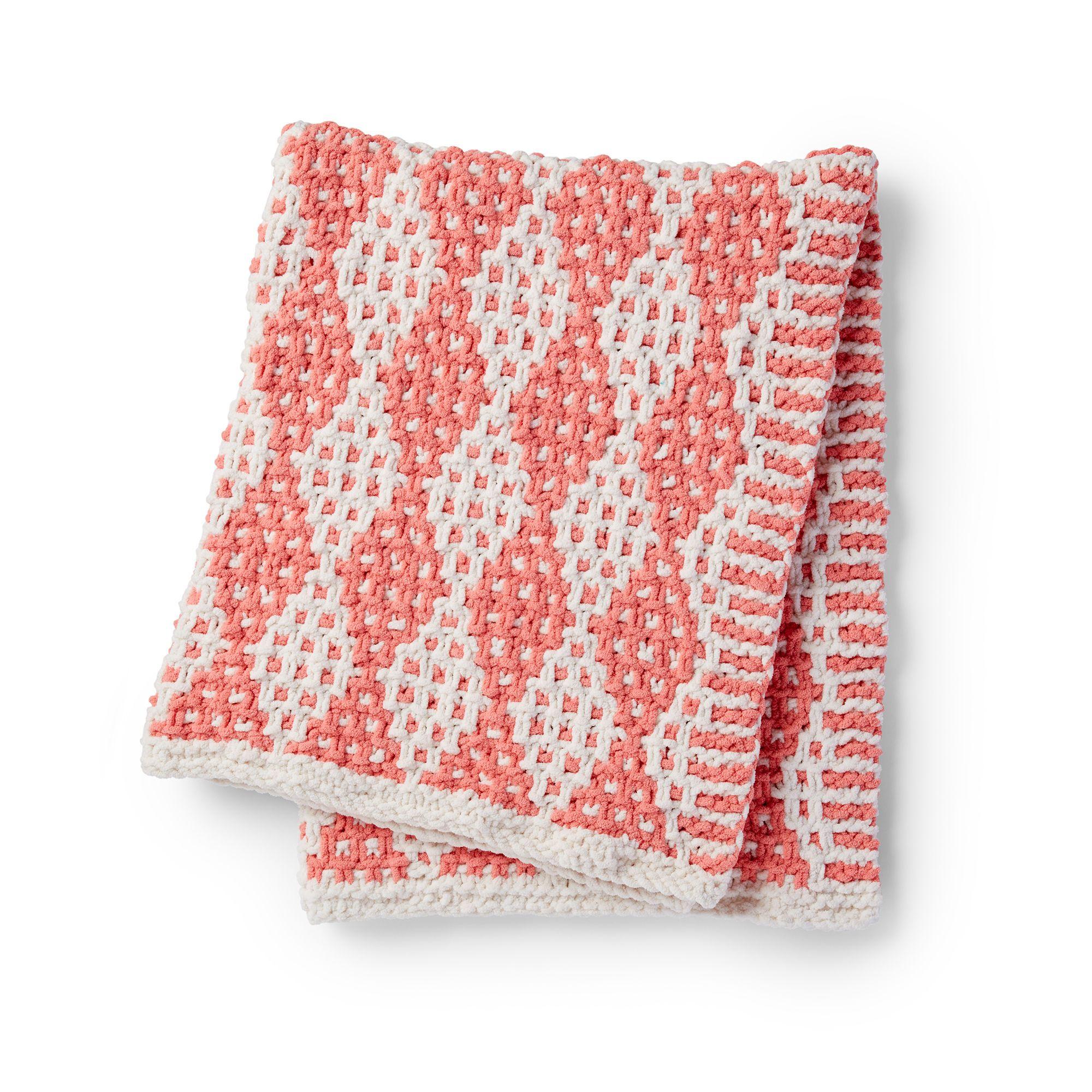 Bernat Mosaic Stitch Knit Blanket Pattern | Yarnspirations ...