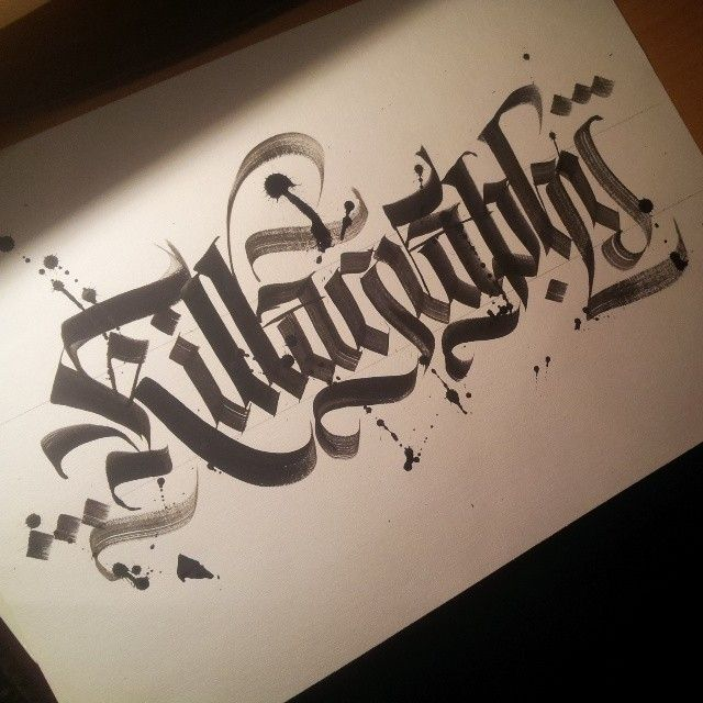 by Martynov Andrey #Blackletter