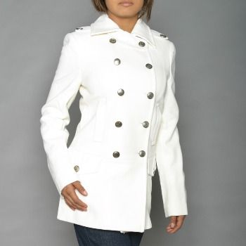 Alpha Industries Ladies Wool Long Peacoat White | McGuire Army ...