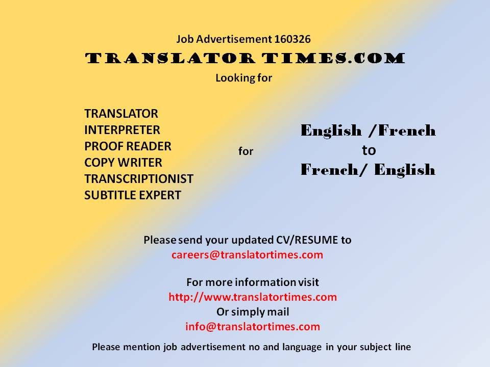 Pin by TRANSLATOR TIMESCOM on JOB OFFERS Pinterest