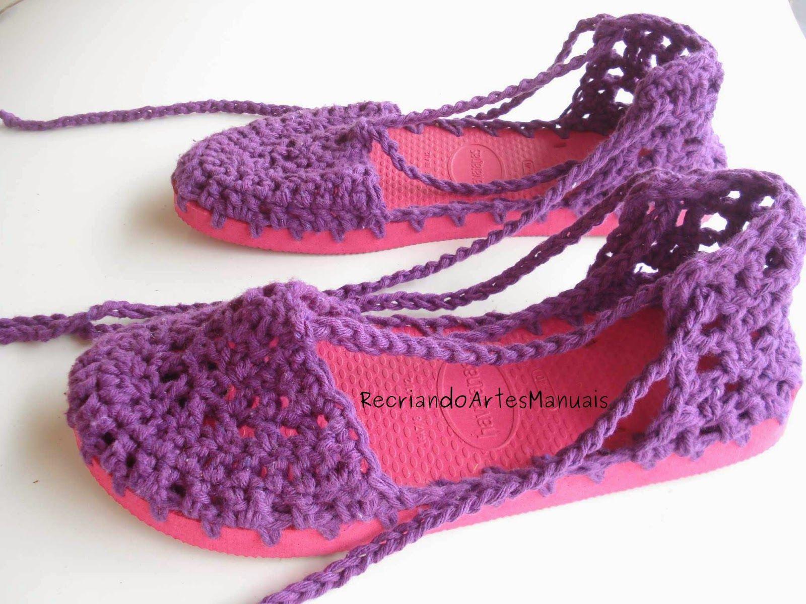 Pin von maria carrasco auf Zapatos tejidos | Pinterest | Pantoffeln ...