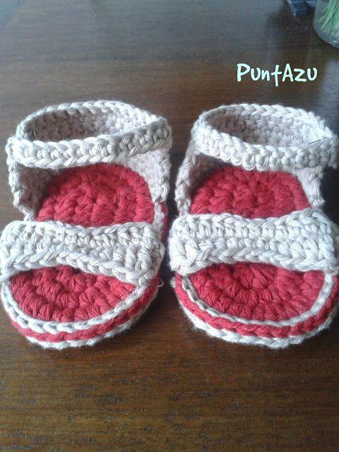 patucos sandalias a crochet. patrón gratis | Accesorios de crochet y ...