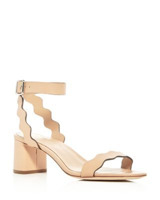Loeffler Randall Women's Emi Leather Ankle Strap Block Heel Sandals 6VCm2Ela6