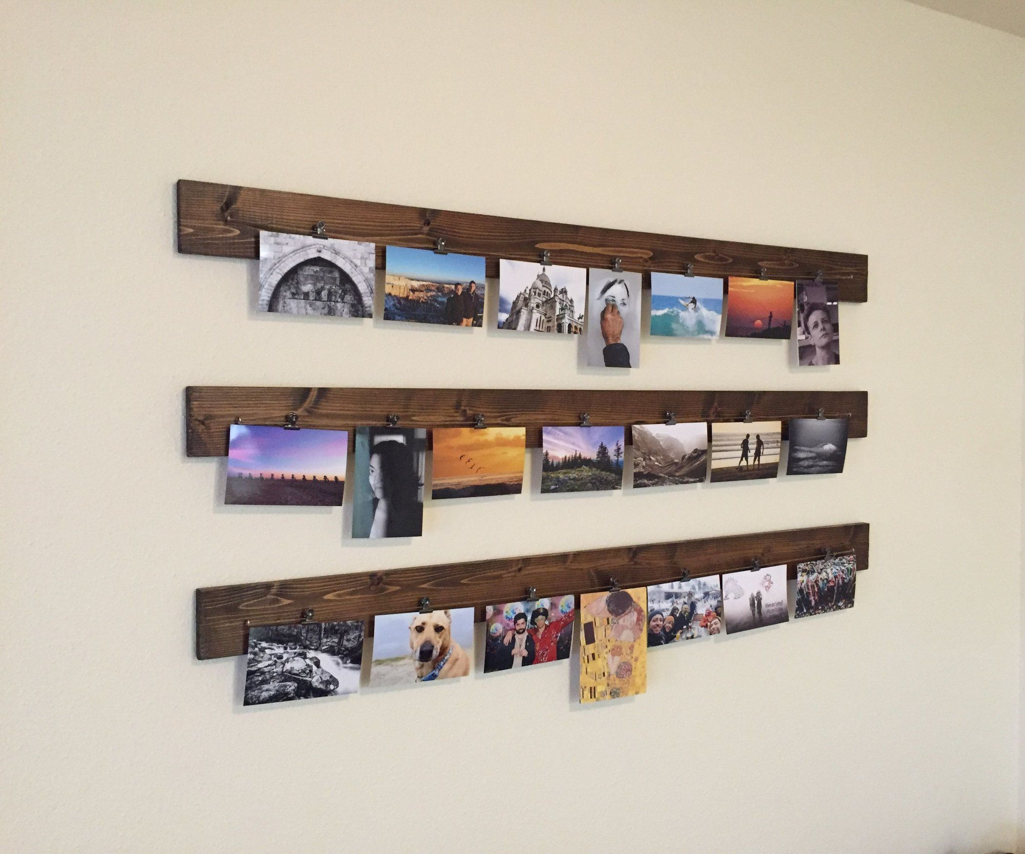 Wood Clothespin Photography Hanging Display Display Shelves Bars For Home Home