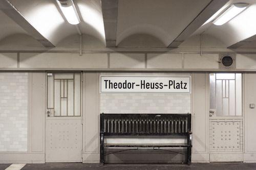 berlin u-bahn theodor-heuss-platz | Berlin, Germany | Pinterest ...
