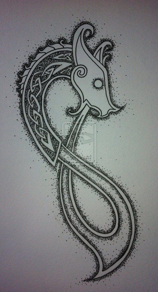 Tattoo yang yin absurde cross tatouage poignet photo tatouage croix - Deviantart More Like Celtic Dragon Tattoo Design Finished By Nirvanaoftime Dessinceltic Tatouages