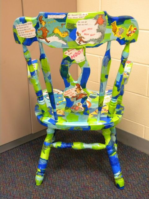 Dr Seuss Wooden Painted Teacher Chair Dr Seuss Wooden