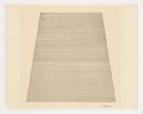 Agnes Martin. Mountain. (1960) | Canadian-American abstract painter. Often labeled a minimalist, she considered herself an abstract expressionist.