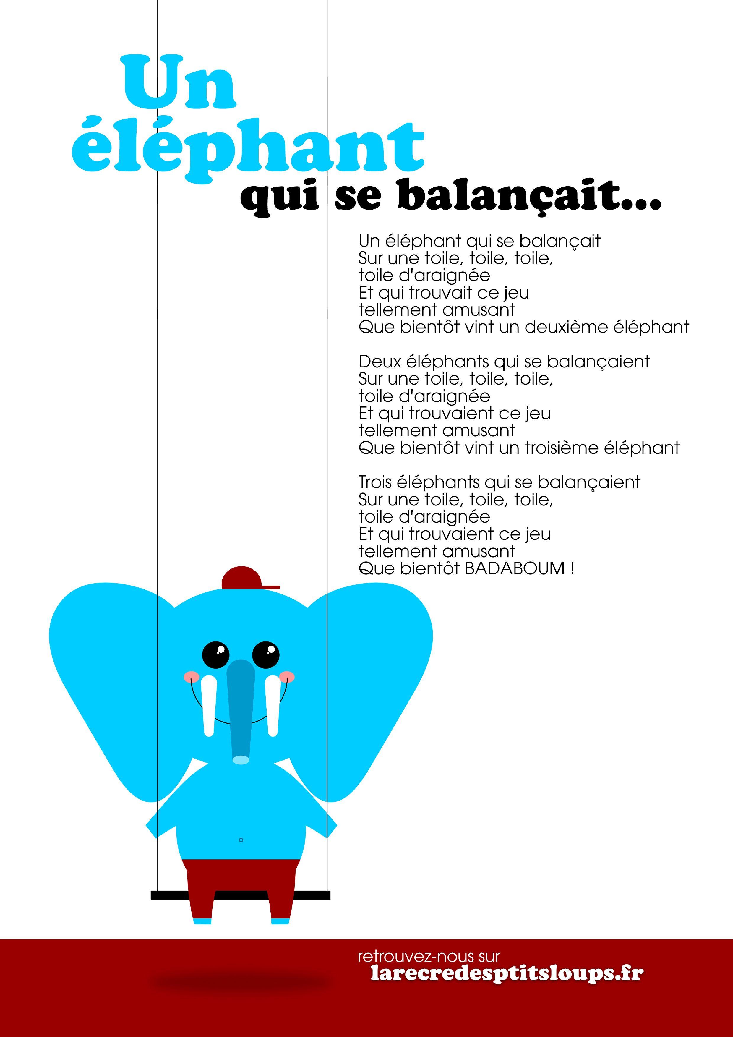 Un éléphant Qui Se Balancait : éléphant, balancait, Épinglé, Graphisme