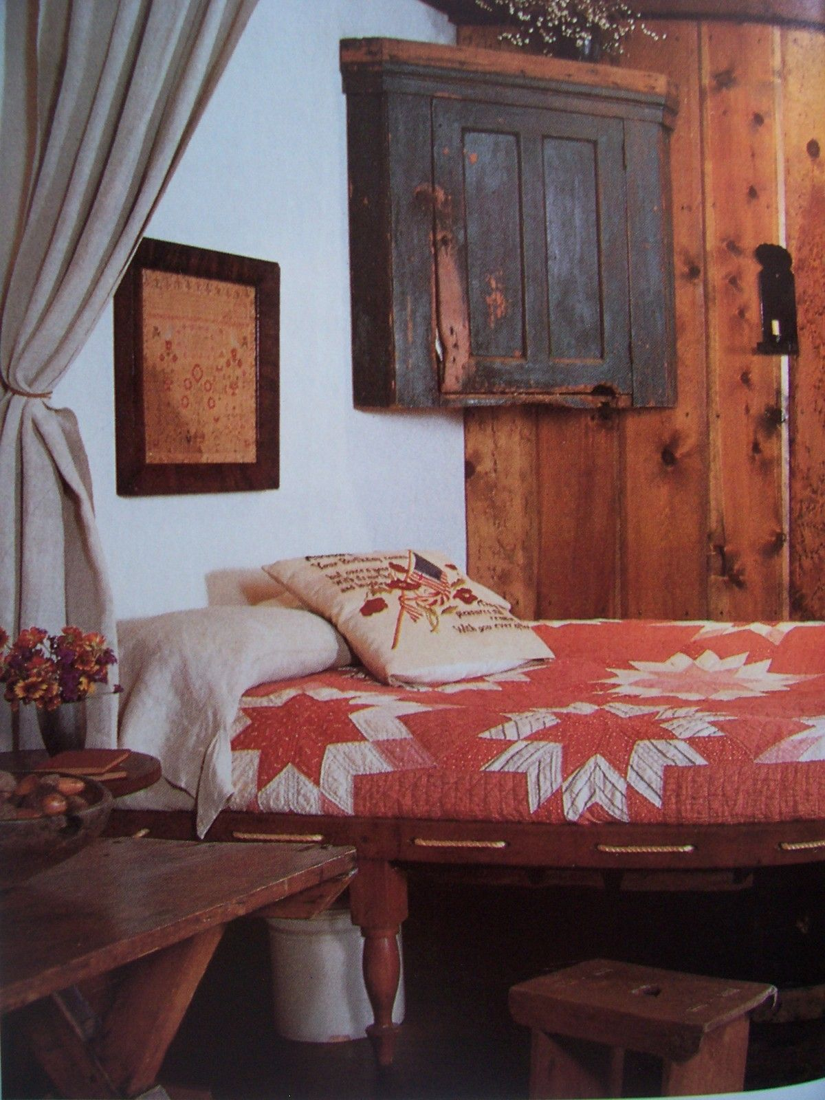 cheap primitive country bedroom decorating ideas | Love the quilt | Country furniture, Decor, Primitive bedroom