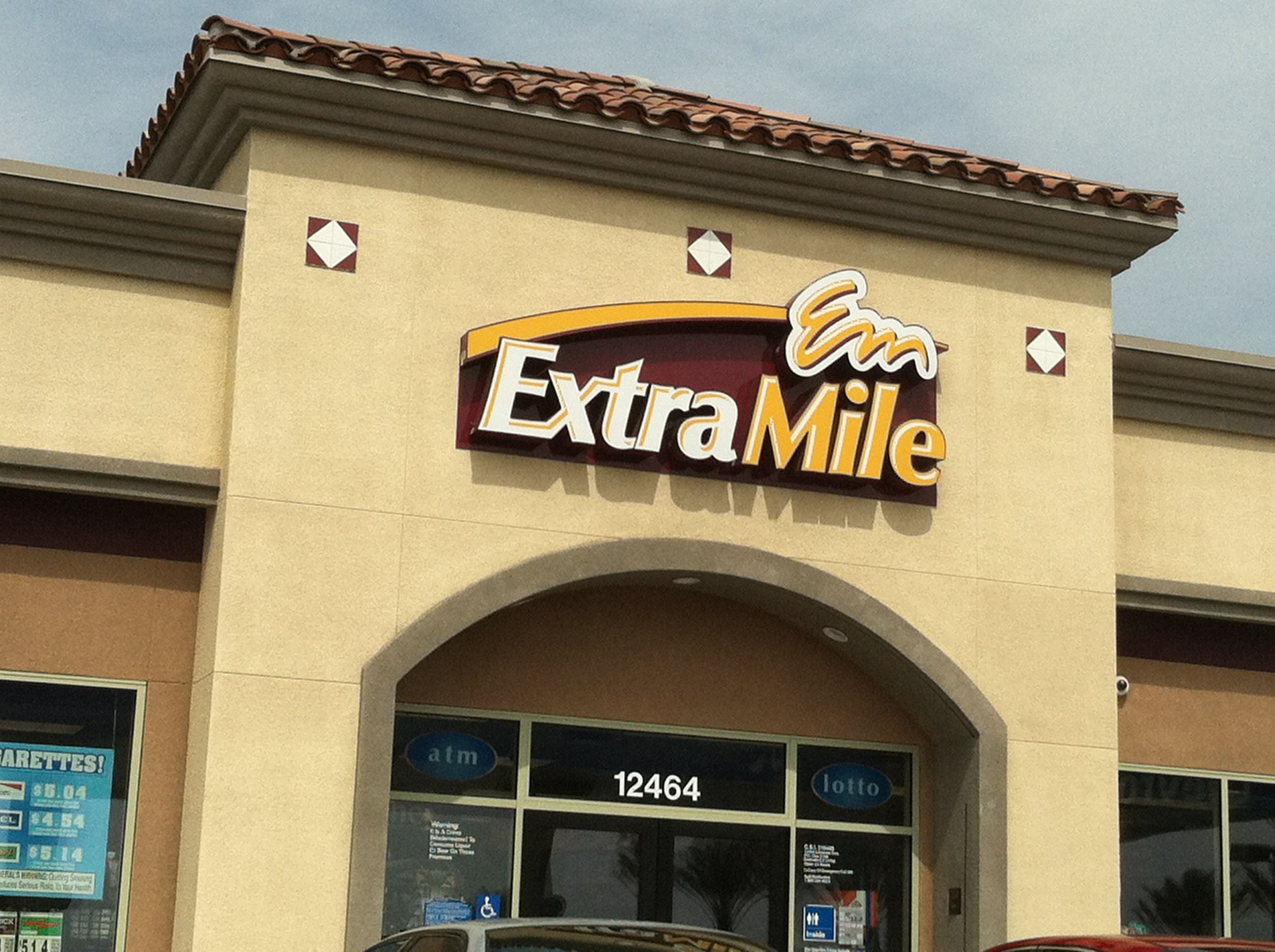 Extra Mile Convenience Store at Gas Station Target