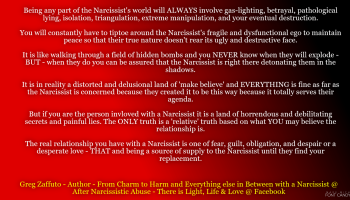 When the Narcissist wants something from you, they will tell