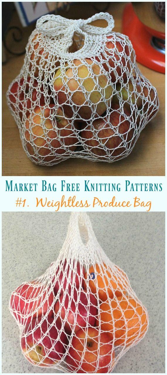 Photo of Market Bag Free Knitting Patterns