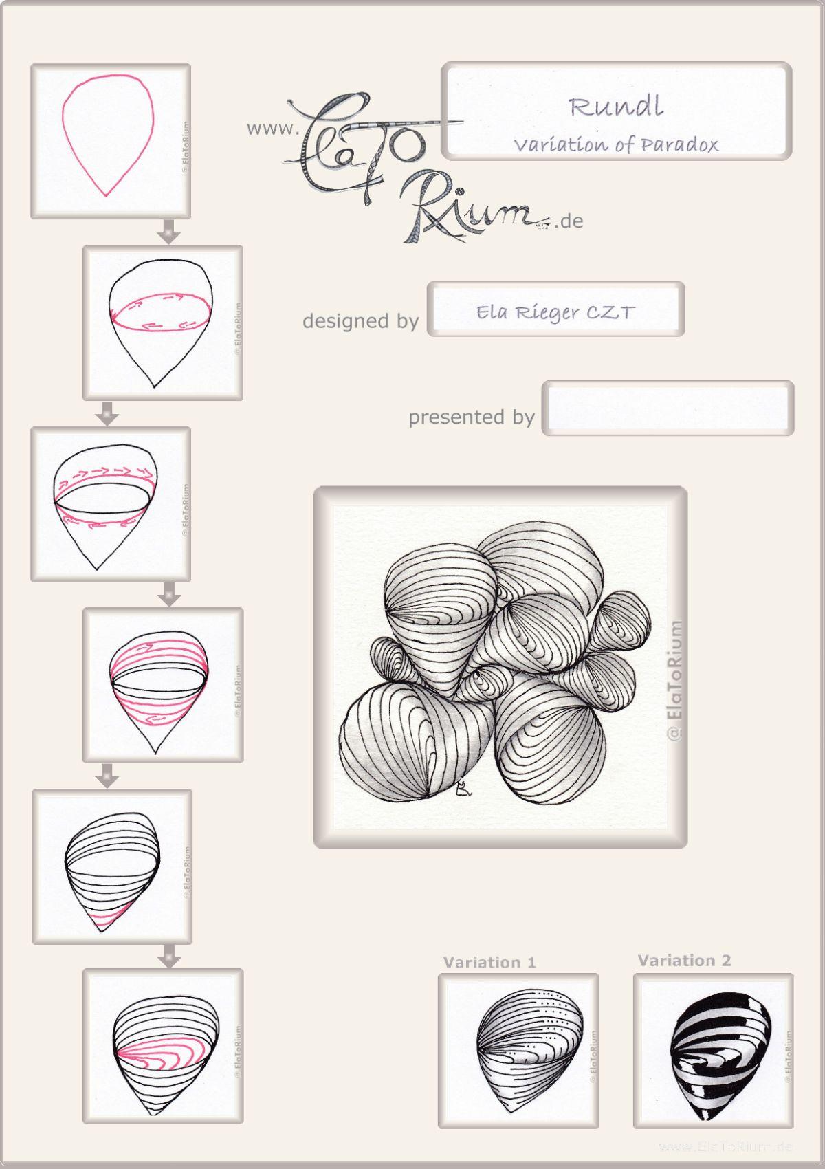 Zentangel Und Zentangle Inspired Art Gezeichnet Von Ela Rieger Mit