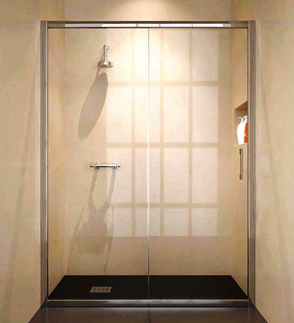 Mamparas de ducha 5 quito estandar 1 hoja fija 1 for Mamparas de vidrio templado para banos