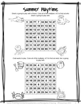 Free Summer Math Games, Summer Writing, Summer Word Search