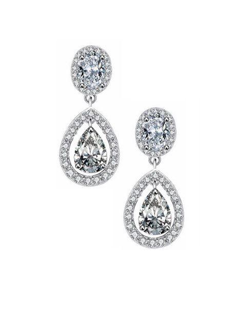 Bridal Earrings Crystal Drop Dangle Wedding Jewelry Vintage Inspired