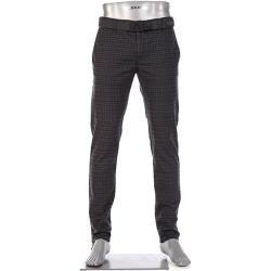 Photo of Pantaloni chino da uomo di Alberto Rob, slim fit, cotone, grigio antracite a scacchi Alberto