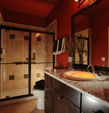 red bathroomkw cowles design center, llc   masculine