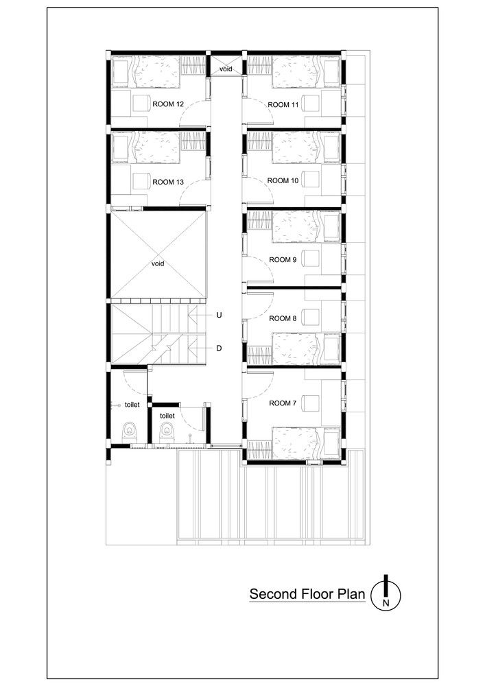 Gallery Of Bioclimatic And Biophilic Boarding House Andyrahman Architect 19 Hotel Floor Plan Home Design Floor Plans Hotel Room Plan