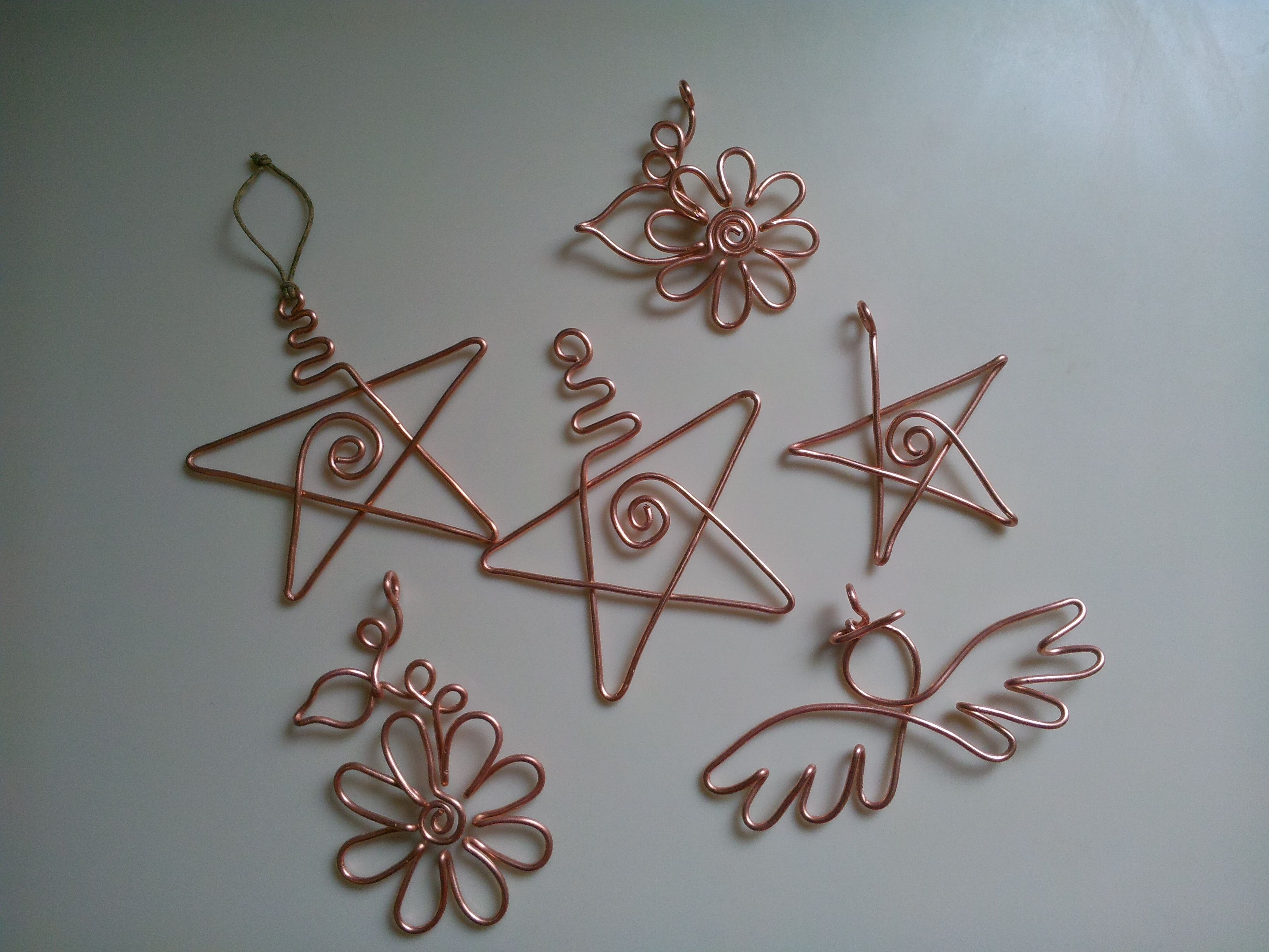 12g copper wire Christmas ornaments are about 3\