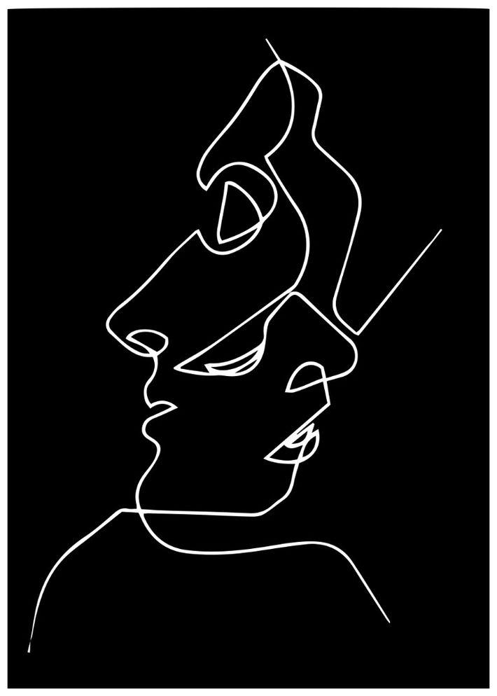 Photo of Постер «Два лица» одной линией